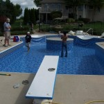 Liner Installed on Richfield, WI Pool Remodel