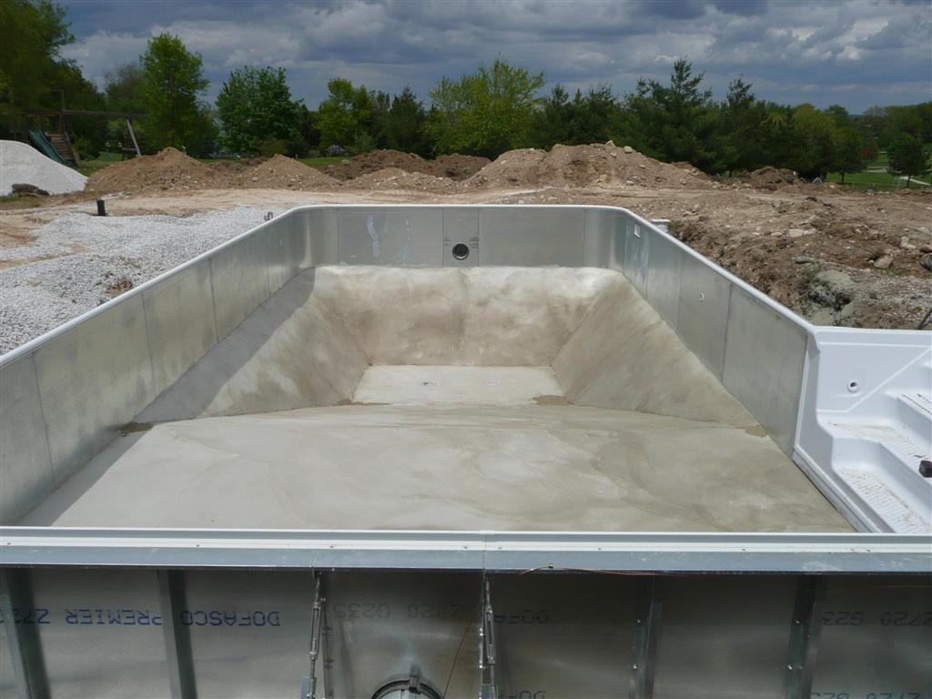 Inground Swimming Pool Construction Details : Vinyl liner pool construction installation process
