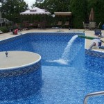 Water Added to Vinyl Liner Swimming Pool Remodel