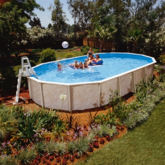 Oval Above Ground Swimming Pool