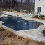 Stone Around Concrete Swimming Pool