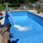 New Vinyl Liner Installed and Water Added in Oak Creek, WI
