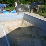 Old Vinyl Liner Removed and Pool Drained Down in Oak Creek