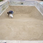 Vermiculite Bottom Patched Up After Liner Removed in MN