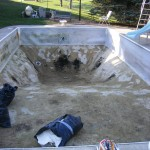 Old Liner Removed and Pool Cleaned in MN