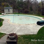 Old Beaten Down Swimming Pool, Needs Renovation