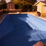 Pool Water Added to New Liner in Brookfield