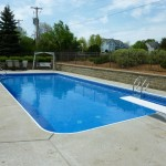 New Main Drains Installed on Vinyl Liner Pool in Brookfield,