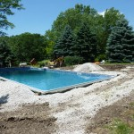 Inground Swimming Pool with Stone Backfill