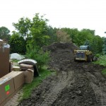 Dirt Haul Out after Swimming Pool Excavation