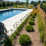 Landscaping around Swimming Pool Fence