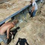 Concrete Pool Footing Around Steel Walled Swimming Pool