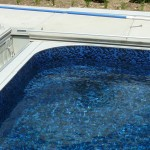 Swimming Pool Deep End Bench with Liner Covering in Cedarburg, WI