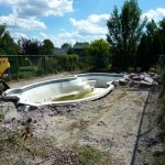 Deformed Fiberglass Pool in New Berlin WI