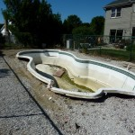 Concrete Removed from Broken Fiberglass Pool