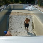 Vermiculite on Side Walls of Inground Vinyl Liner Pool New Berlin, WI