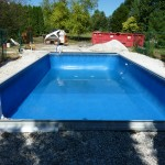 Vinyl Liner Pool with Stone Backfill in New Berlin WI