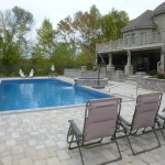 Penguin Pools Stone Pavers Inground Swimming Pool in West Bend, WI