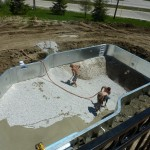 Vermiculite Pool Bottom Installed on Pool in Franklin WI