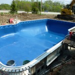 Liner Stretched in Vinyl Liner Pool in Franklin
