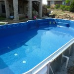 Water Being put into Vinyl Liner Pool in Franklin, WI