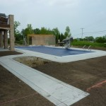 Concrete Poured Prior to Pool Landscaping in Franklin WI