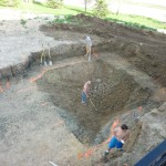 Pool Sprayed Out for Excavation