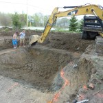 Excavation of the Deep End of Swimming Pool