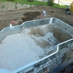 Pool Bottom Stoned for Vermiculite Install in Franklin