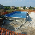 Water Added to Pool Prior to Stone Backfill