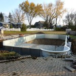 Vermiculite Swimming Pool Bottom Installed in Muskego, WI
