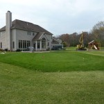 Grass Cut to Shape of Vinyl Liner Pool