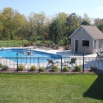 Pool with Pool House and Fencing; Muskego WI