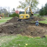 Stock Pile Dirt from Swimming Pool Dig