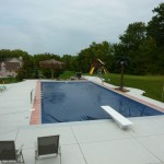 Colored Concrete Pool Coping around Pool in New Berlin WI