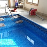 Indoor Pool with Vinyl Liner over the Steps in Mukwonago, WI