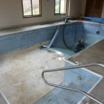 Mukwonago Indoor Pool with Vinyl Liner Getting Removed