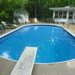 Oval Inground Pool Vinyl Liner Replacement done in Sussex