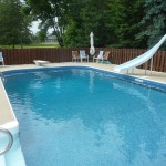 Muskego, WI Swimming Pool with Slide Vinyl Liner Replacement