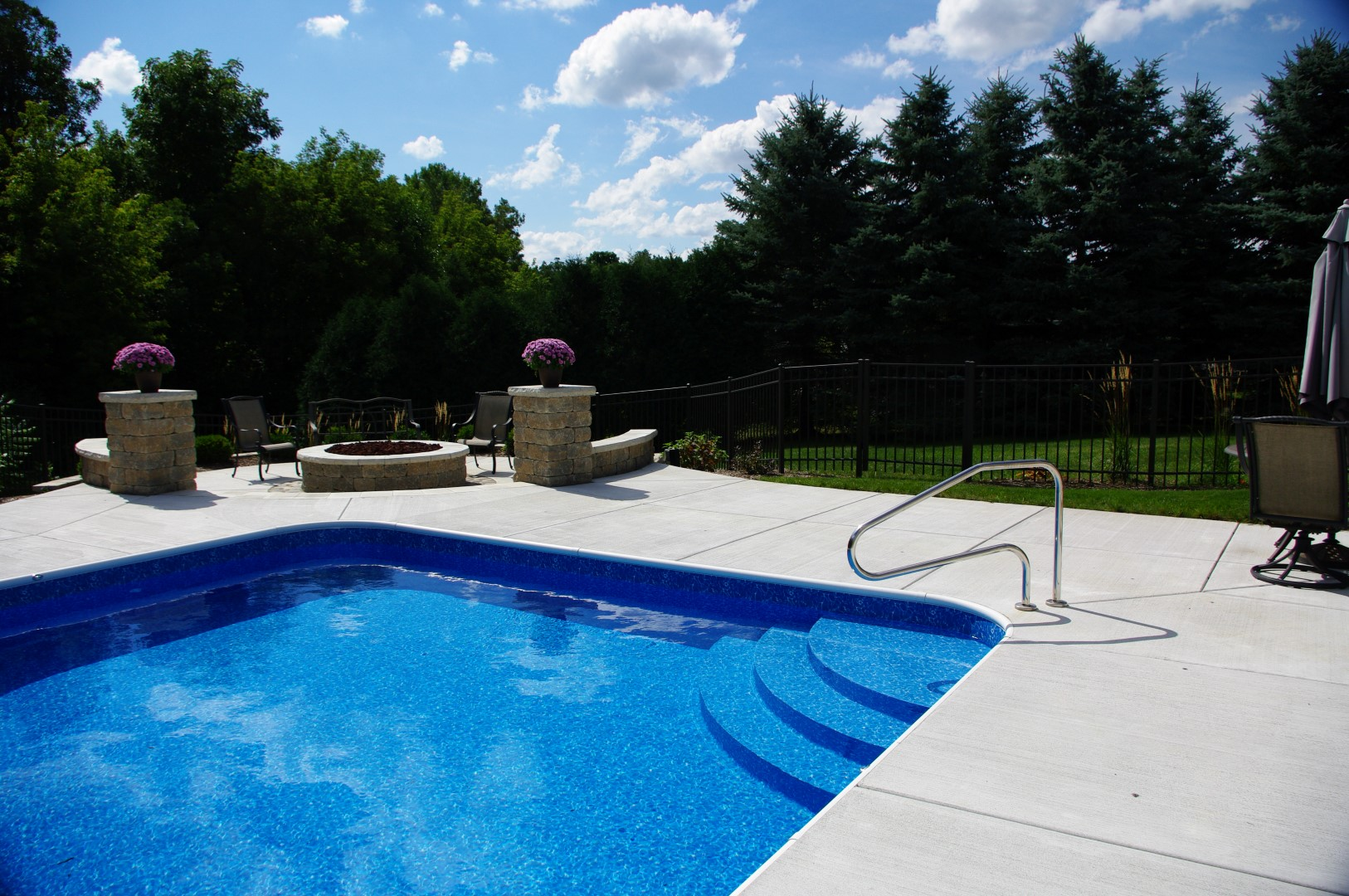Image result for The Differences Between Vinyl, Fiberglass and Concrete In ground Pools