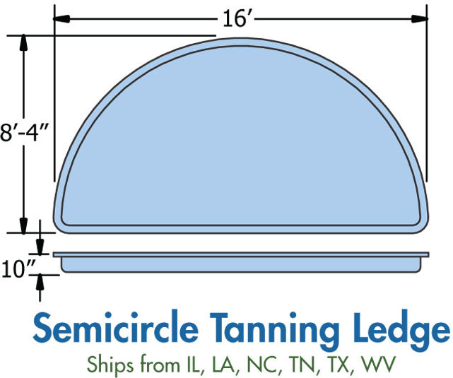 Fiberglass Tanning Ledge Price