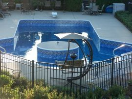Double Lazy L Vinyl Liner Pool Designs Waukesha