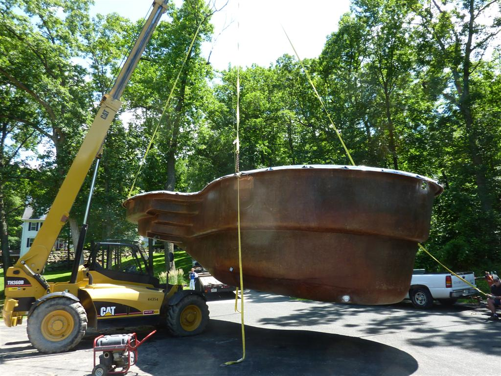 Fiberglass Pool Construction Move Brookfield