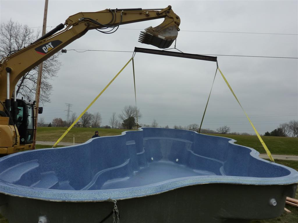 fiberglass pool construction & installation process