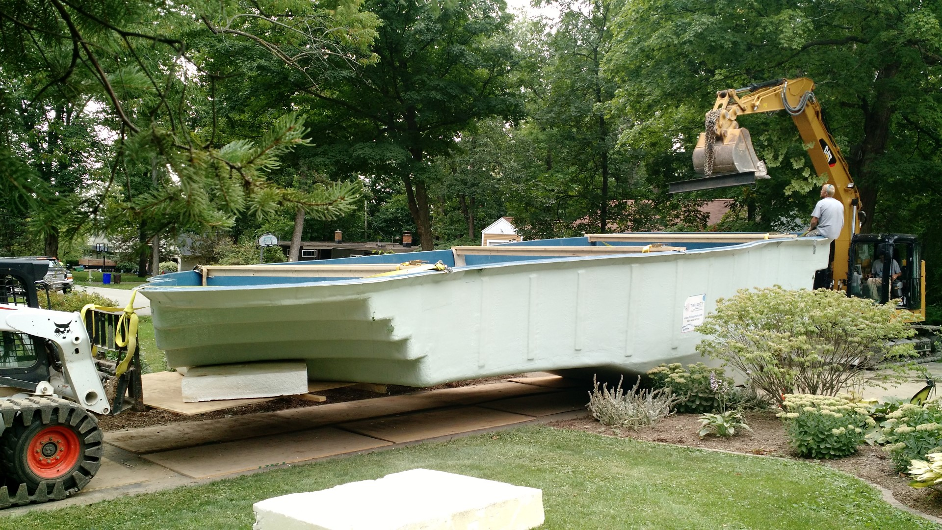 Fiberglass Pool Construction Moving Pool Sussex