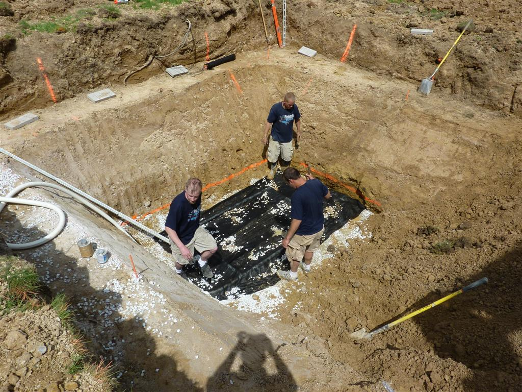 Build Sump System Under Fiberglass Pool Menomonee Falls