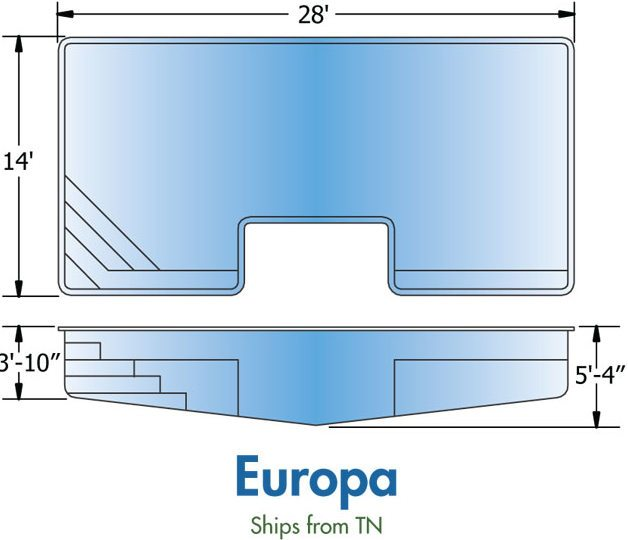 Trilogy Europa Fiberglass Pool Design