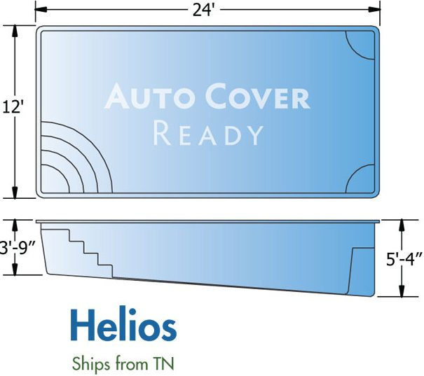 Trilogy Fiberglass Pool Designs Helios