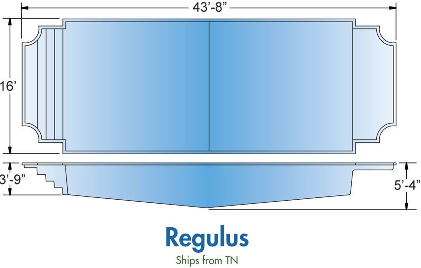 Hartland WI Fiberglass Pool Designs Regulus