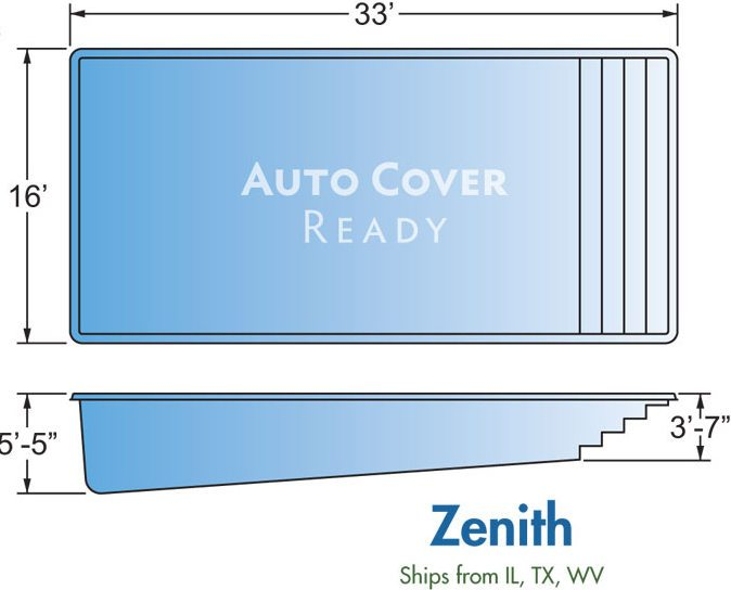 Fiberglass Pool Designs Zenith